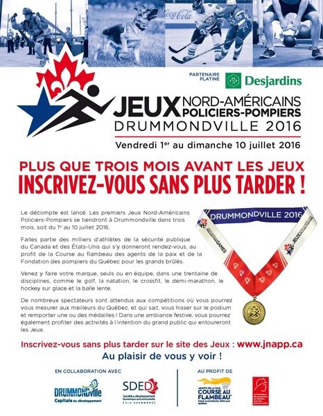 Jeux Pompiers-Polices Drummondville 2016